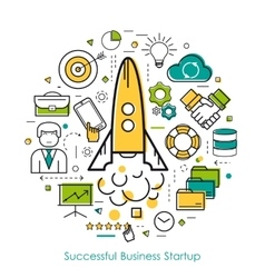 LineArt Concept Business Start Up vector