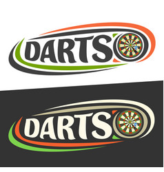 Logos for darts vector