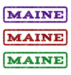 Maine watermark stamp vector