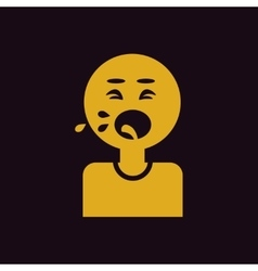 Man coughing and drooling various symptoms vector