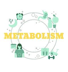 metabolism concept concept vector image