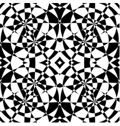Mirrored symmetrical pattern geometric monochrome vector