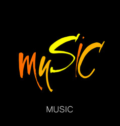 Music lettering template vector