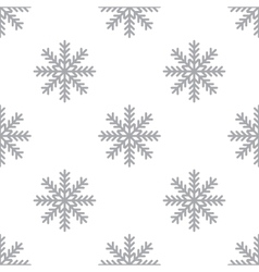 New Snowflake seamless pattern vector image