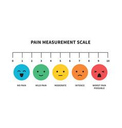 Pain measurement scale flat icon color vector