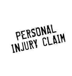 Personal injury claim rubber stamp vector