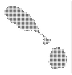 pixel map of saint kitts nevis dotted map of vector image