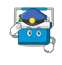 Police freezer bag character cartoon vector