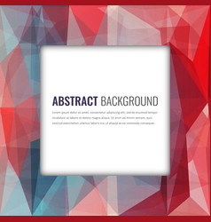 polygonal background with abstract multicolored vector image