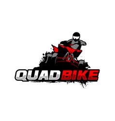 Quadbike logo template vector