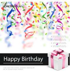 realistic happy birthday poster vector image