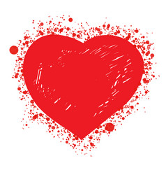 red hot sketch heart vector image
