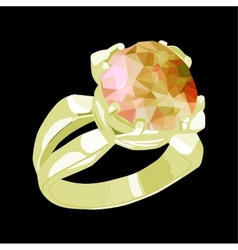 Ring with stone vector image