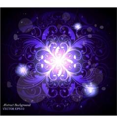 seamless floral wallpaper pattern black vector image