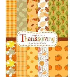 Seamless thanksgiving backgrounds vector