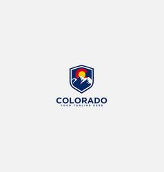 secure mountain logo colorado mountain safety logo vector image