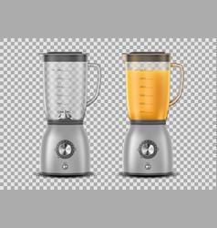 set realistic juicer blender kitchen blender vector image