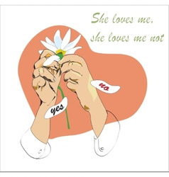She Loves Me Not vector image
