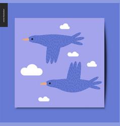 simple things - flying birds vector image