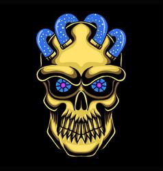 Skull head gold vector