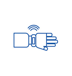 smart watch sign line icon concept smart watch vector image
