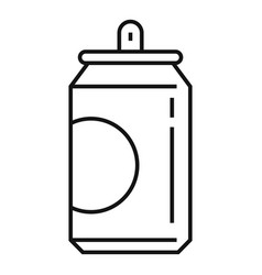 soda tin can icon outline style vector image