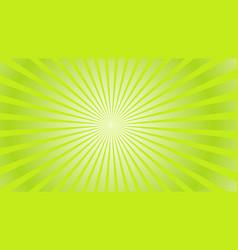 sun rays background green radiate sun beam burst vector image