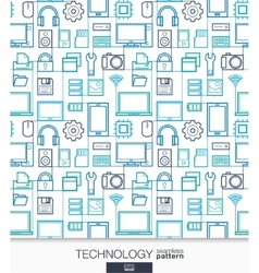 Technology wallpaper Digital seamless pattern vector image