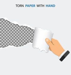 Torn hole on paper vector