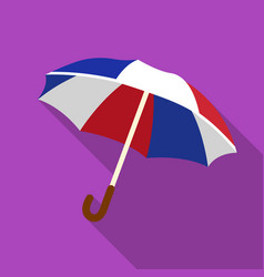 umbrella icon in flat style isolated on white vector image