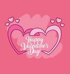 Valentines day celebration with hearts vector