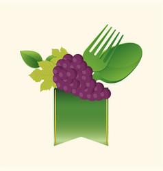 vegan food fresh kitchen vector image