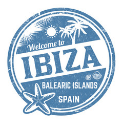 Welcome to ibiza sign or stamp vector