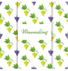 winemaking poster with isolated grapes vector image