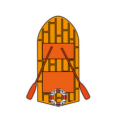 Wooden boat design vector