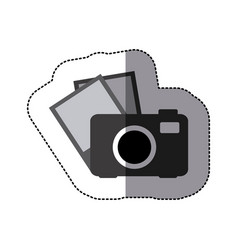 digital camera with pictures icon vector image vector image