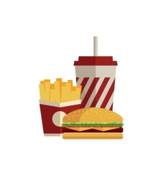 Fast food Flat design vector image vector image