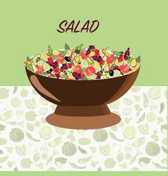fresh natural healthy food healthy food diet vector image vector image