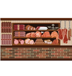 Meat market vector image vector image