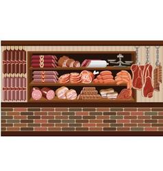 Meat market vector image