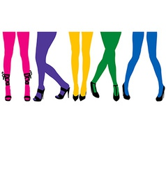 Women sexy legs with colored stocking vector image vector image