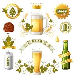 Beer emblems vector