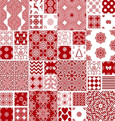 collection of Christmas backgrounds vector image vector image