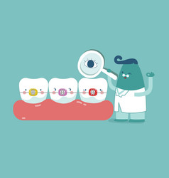 dentist check up braces teeth tooth concept of de vector image vector image