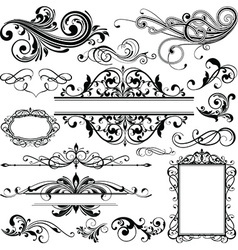 Floral and decorative background vector