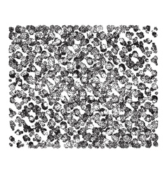 Monochrome background with black and white circles vector image vector image