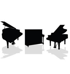piano three black vector image vector image