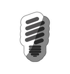 Sticker silhouette of fluorescent light bulb vector