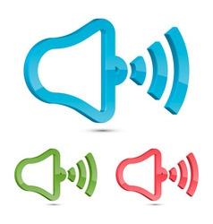 Stylized Speaker Icon vector image vector image