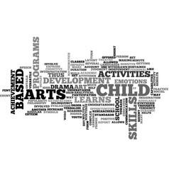 art based activities text word cloud concept vector image